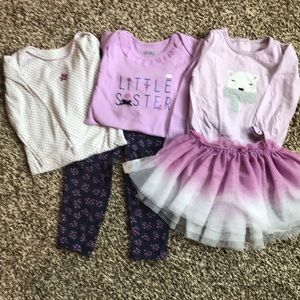 Carters and Gymboree girls 6-12 months outfit